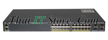 [WS-C2960X-24PS-L] Catalyst 2960X 24 port 10/100/1000 POE+ 370W, 4 x 1G SFP, LAN Base