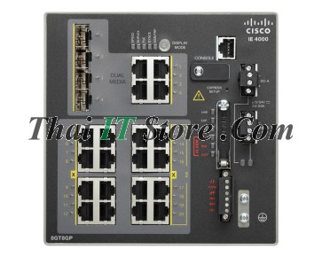 IE-4000 8 x RJ45 10/100/1000 with 8 x 1G PoE, 4 x 1G Combo, LAN Base