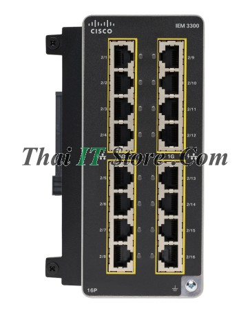 Catalyst IE3300 Rugged 16 Port GE PoE+ Exp Module