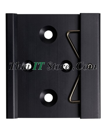Din-rail clip for vertical or horizontal mounting