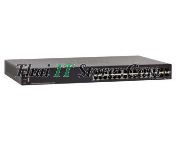 SF250-24P 24 Port 10/100 PoE+ 185W, 2x1G SFP/RJ-45, 2x1G SFP
