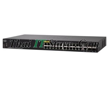 SF350-24MP 24 Port 10/100 PoE+ 375W, 2x1G SFP/RJ-45, 2x1G SFP