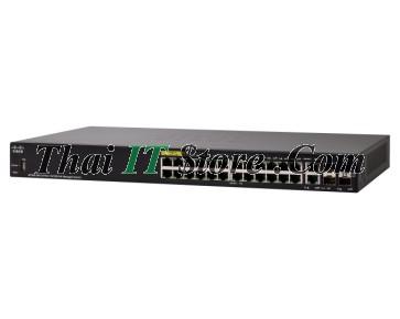SF350-24P 24 Port 10/100 PoE+ 185W, 2x1G SFP/RJ-45, 2x1G SFP