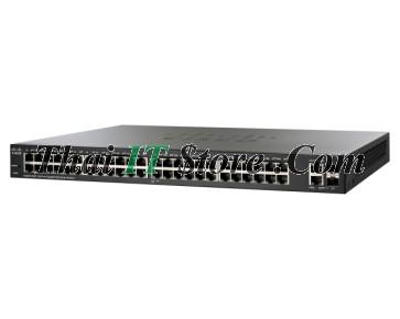 SG220-50P 48 Port 10/100/1000 PoE+ 375W, 2x1G SFP/RJ-45