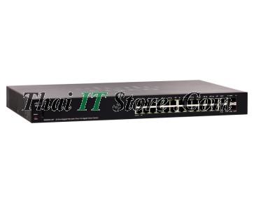 SG250X-24P 24 Port 10/100/1000 PoE+ 195W, 2x10G RJ-45, 2x10G SFP+