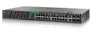 ขาย Cisco SMB SG500X 24 Port Gigabit PoE with 10Gigabit Uplinks [SG500X-24MPP-K9-G5] ราคาถูก
