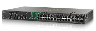 ขาย Cisco SMB SF500 24 Port 10/100 PoE+ 180W w/GE Uplink [SF500-24P-K9-G5] ราคาถูก