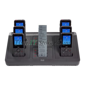 Wireless IP Phone 8821 and 8821-EX Multi Charger, with power adapter