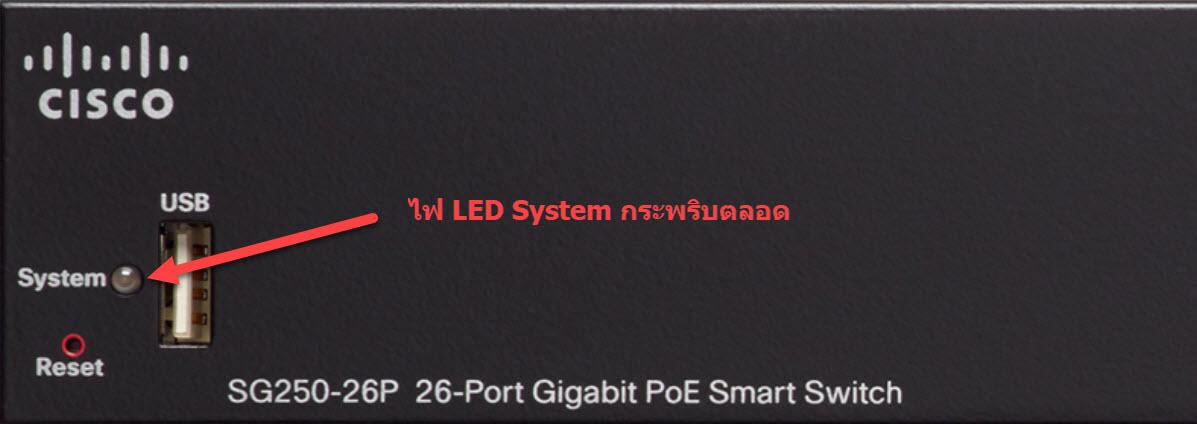 ไฟ led system กระพริบตลอด